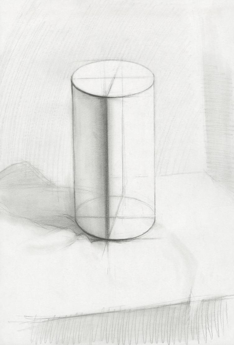 圆柱结构素描图片步骤
