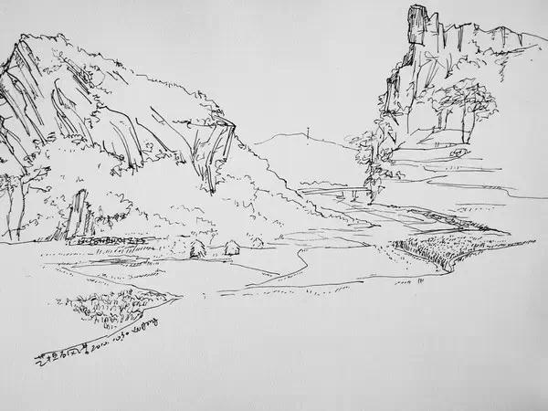 风景速写怎么画,有什么方法和步骤要领吗?